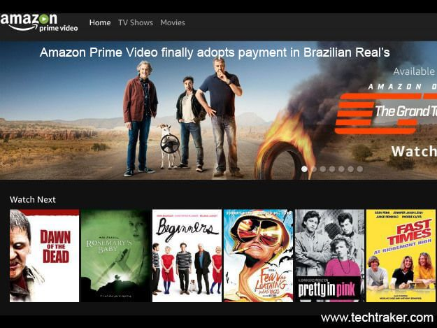 Amazon Prime Video finally adopts payment in Brazilian Real's: According to Amazon Company on October of 31, about a year ago in Brazil that Amazon Prime video start its streaming service and now its start its offering real time payment in Brazil. From now the new user of Prime video will have to pay $More