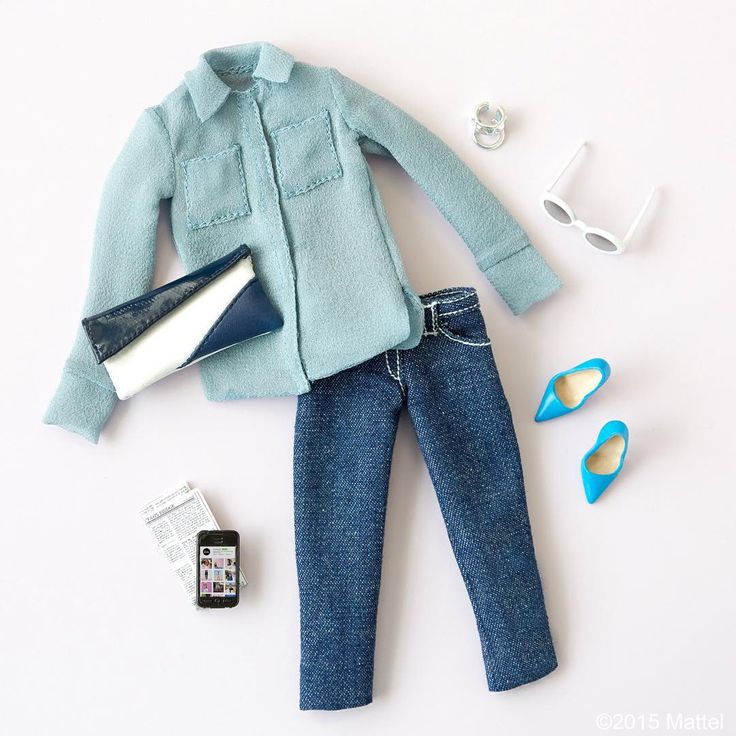 Casual Fridays! My favorite jeans and button-down. #barbie #barbiestyle