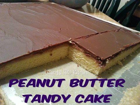 PEANUT BUTTER TANDY CAKE This tastes just like Tasty Cake's Peanut Butter Kandy Kakes...but BETTER!  #recipes #pinterest #dessert