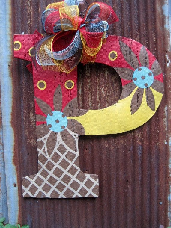 221 Best Letter Decor Images On Pinterest Burlap Door Hangers