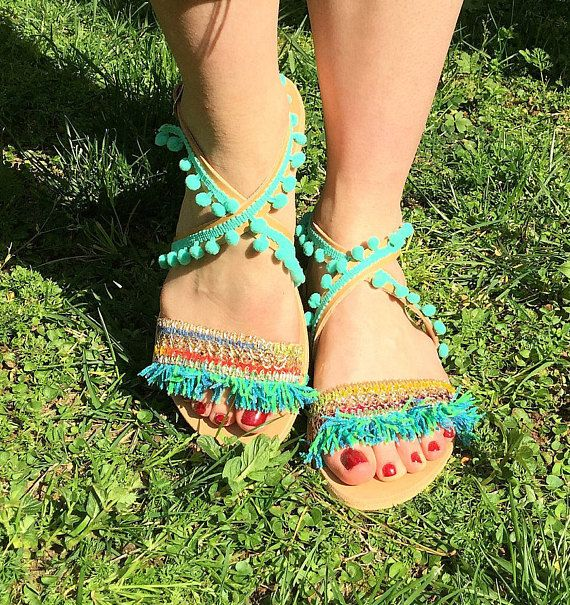 Greek Sandals Made in Greece  Leather Boho Sandals