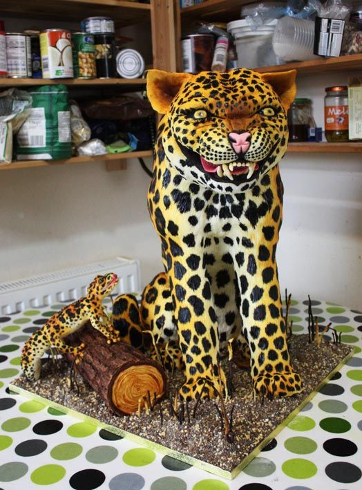 How To Make A Leopard Print Outside Cake