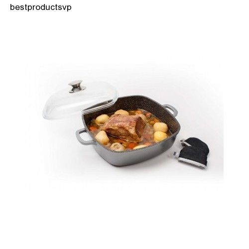 #Ebay #Nonstick #Stone #Pan #Fry #Cookware #Frying #11in #PFOA #Square #Lid #Induction #Versatile