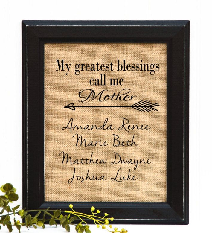 Mother's Day Gift, FRAMED burlap Print, Mom Gift, Gift Idea for Mom,Mom Birthday Gift, Mothers day, Unique Gift For Mom, by BlessedHomesteadShop on Etsy