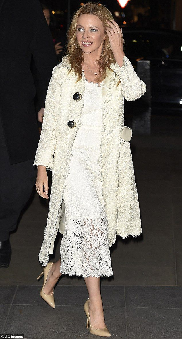 Dressed to impress: Kylie Minogue looked stunning when she was spotted in London making he...