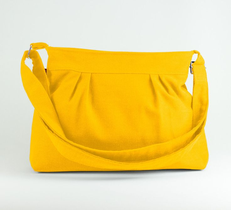 Yellow, Small and Sweety, Purse, Pleated Bag, Canvas Bag, Shoulder bag, Crossbody bag, Women Accessories, High quality, gift for her, Spring