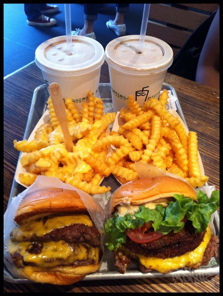 Burgers, Fries and Chocolate Shakes from Shake Shack NYC...You have to eat here when you visit NY!