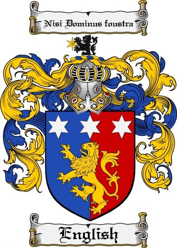 English Coat of Arms English Family Crest Instant Download - for ...