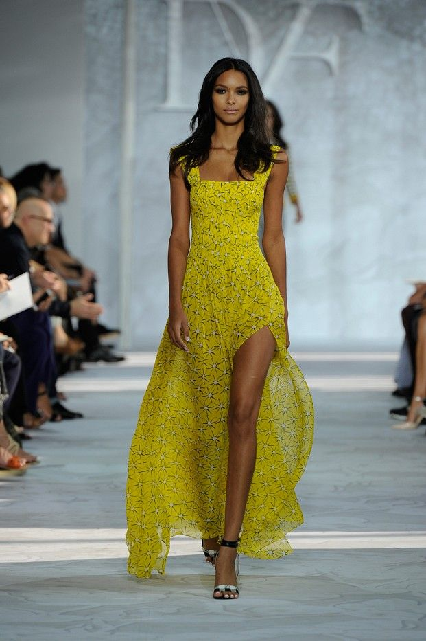 Diane understands us women so well! - DVF Spring 2015 runway #NYFW MBFashionWeek #Fashion #Style