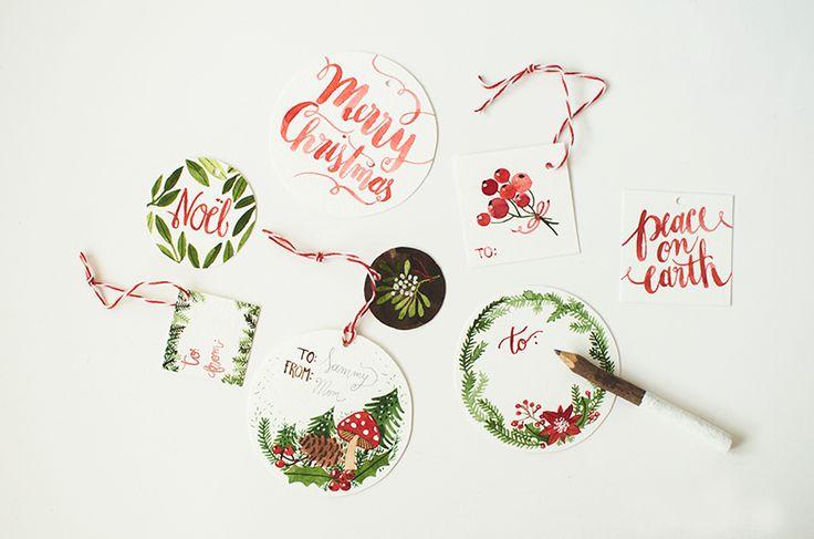 Christmas Gift Tags Printable    Oana Befort