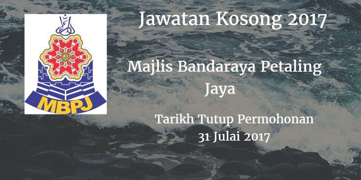 Majlis Bandaraya Petaling Jaya Jawatan Kosong MBPJ 31 Julai 2017  Majlis Bandaraya Petaling Jaya (MBPJ) calon yang sesuai untuk mengisi kekosongan jawatan MBPJ terkini 2017.  Jawatan Kosong MBPJ 31 Julai 2017  Warganegara Malaysia yang berminat bekerja di Majlis Bandaraya Petaling Jaya (MBPJ) dan berkelayakan dipelawa untuk memohon sekarang juga. Jawatan Kosong MBPJ Terkini 31 Julai 2017: 1. AKAUNTAN WA41 2. JURUAUDIT W41 3. PEGAWAI UNDANG  UNDANG L41 4. PEMBANTU KESIHATAN AWAM U19 5…