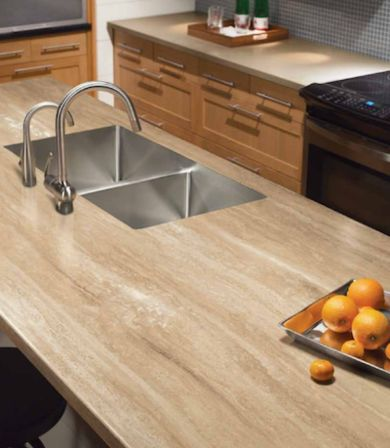 Give Your Kitchen The Rich Earthy Character Of Travertine Counters On A Budget With Formica S
