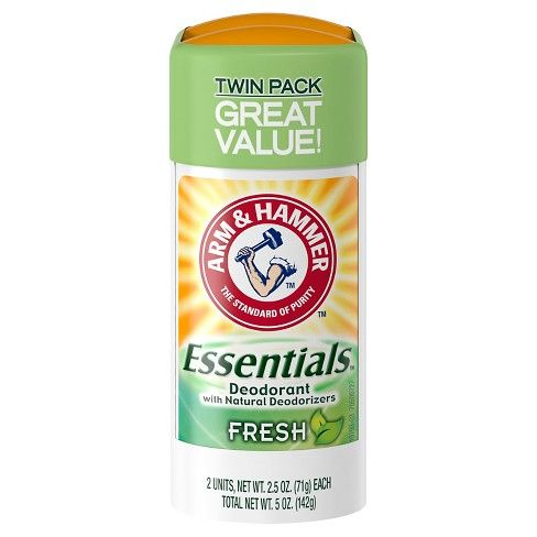 No matter your lifestyle, you need a deodorant that can keep up. Fight odor with the combined power of arm & Hammer baking soda and natural plant exracts. No matter what your day brings, Arm & Hammer Essentials solid deodorant delivers the natrual way to absore and fight odoer to keep you feeling fresh. It doesn't contain any aluminum, parabens, colorants or animal-dervied ingredients.