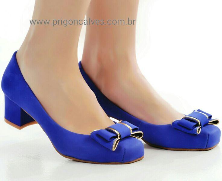 Sapato fofo azul bic