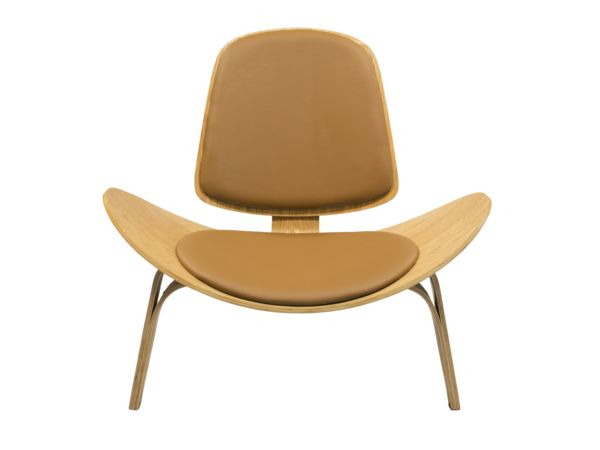 SHELL WOODEN CHAIR - Brown/Wood I Newell Furniture