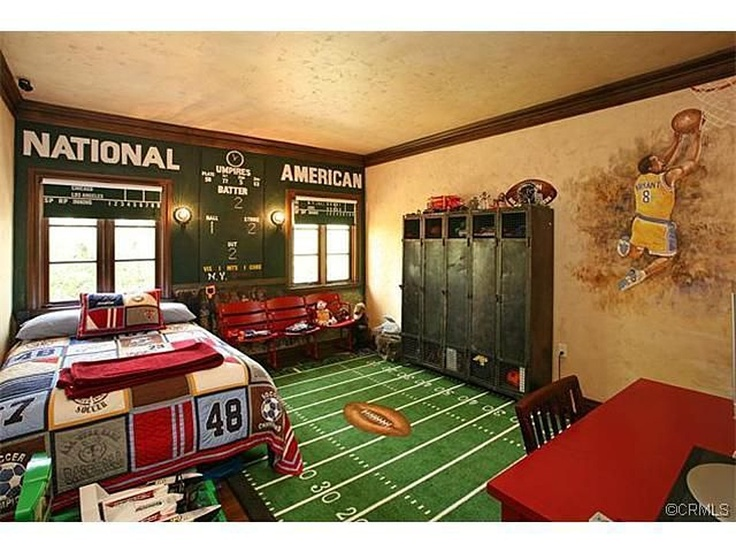 Kids Sports Room Ideas 60 best johnathan-nfl bedroom ideas images on pinterest | bedroom