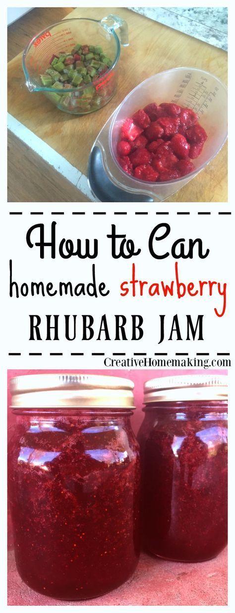 Strawberry Rhubarb Jam Canning Recipe Strawberry Rhubarb