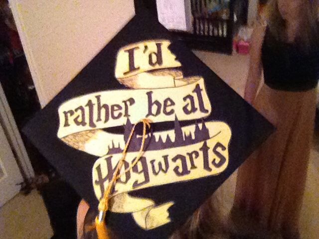 Love love love my Harry potter graduation cap!!!!!