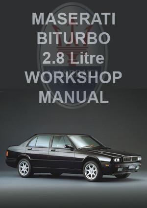 MASERATI BiTurbo 2.8L 1981-1994 Workshop Manual