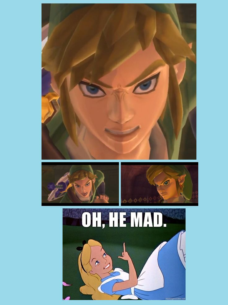 LoL, this part in Skyward Sword!! It's near the end, and I think Ghirahim just got on his last nerve.. He has a *really angry Link moment* in TP too, I'm like, dang boy.. Don't ya'll be messin' with the Linkster.