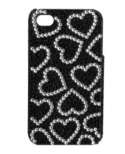 Rhinestone Hearts Phone Case from WetSeal.com