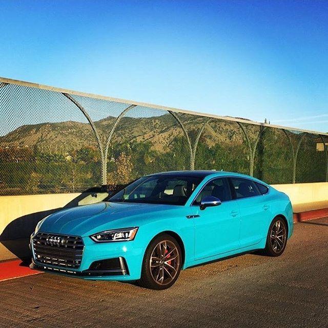 Miami Blue S5 Sportback Who Would Add Black Optics? A Very