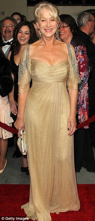 Helen Mirren at the 2012 DGAs.  My mother said if I ever get married, this is the dress she's wearing...