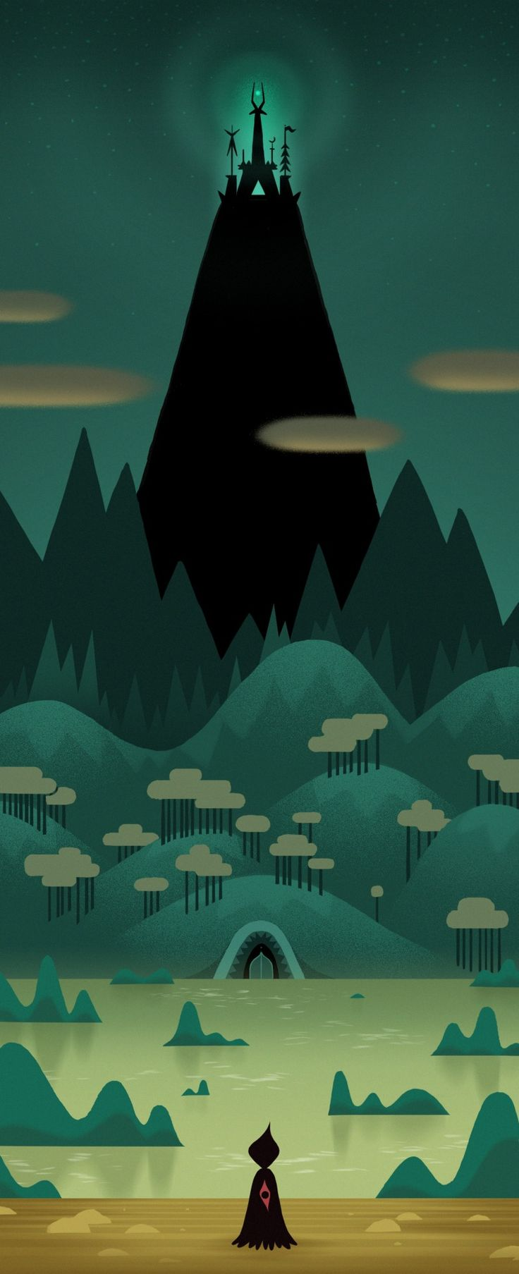 Trying to create backgrounds with simple shapes and colour palettes