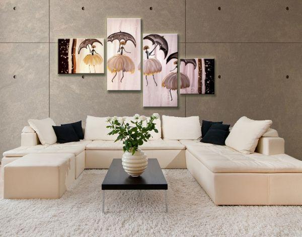 Nappali dekoráció festett vászonképekkel. Gyönyörű balerinák kelnek életre otthonod falán festett képen