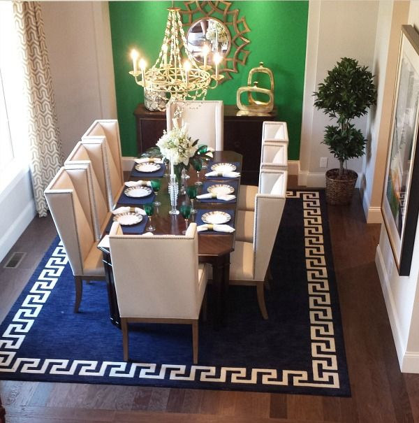 I like all the kelly green and navy in this house (Homearama 2014 Asheville Model)