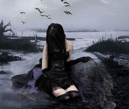 Gothic Beauty - Beauty, Black, Dark, Girl, Goth, Sad ...
