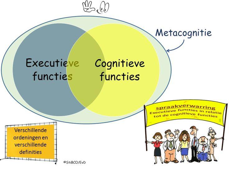 Executieve functies in relatie tot de cognitieve functies cirkels