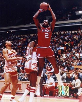 Moses Malone, who played for the Philadelphia 76ers from 1982 to 1986.