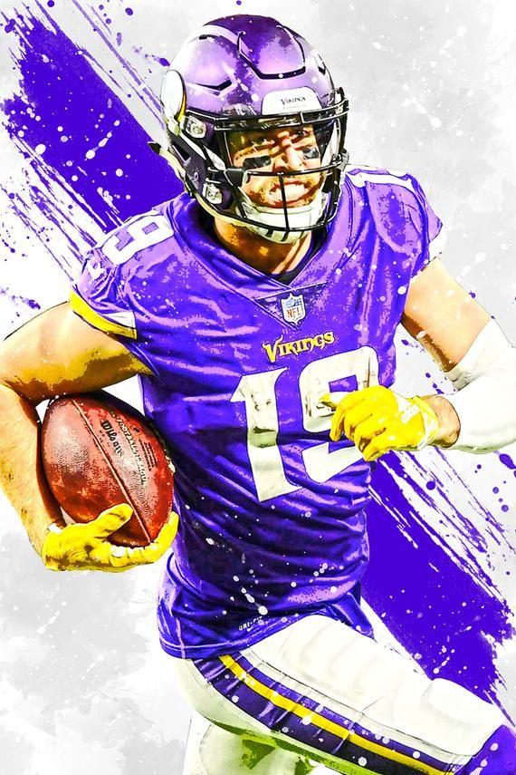 Adam Thielen Minnesota Vikings Poster Print Sports Art Etsy Minnesota Vikings Wallpaper Viking Wallpaper Minnesota Vikings
