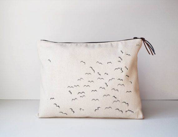 #Clutch #bag #Embroidered #clutchbag #Fabric #purse      #Bags & #Purses #Handbags #Clutches & #EveningBags #Clutchbag #embroidered #textile #zipper #canvas #spring #Bird #flock #birds #embroidery #springday #summer #design #handmade #unique #Etsy #etsybags #etsyshop #etsypurses #handbags #designed and #made by #PurpleFlowerPurses