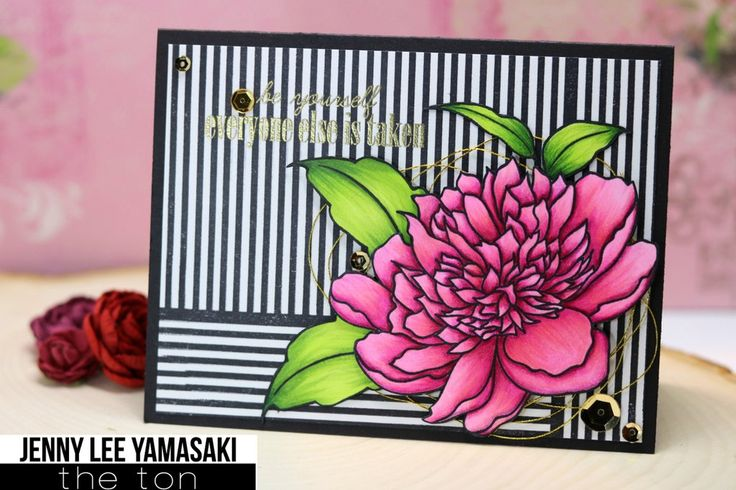 This stamp is part of our Large Peony collection and is perfect for coloring with any medium. - 4x6 inches - 16 stamps - Made of photopolymer - Made in the U.S. - Coordinating dies can be found here.