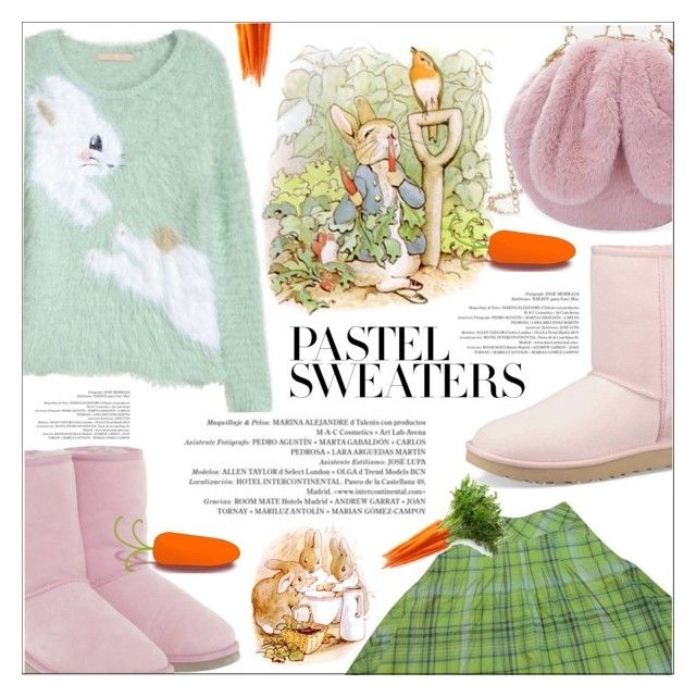 """""""Down the rabbit hole"""" by elisapar ❤ liked on Polyvore featuring UGG, Max&Co., H&M and pastelsweaters"""