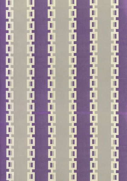 Key Stripe #fabric in #plum from the Anna French Aria collection. #Thibaut #AnnaFrench