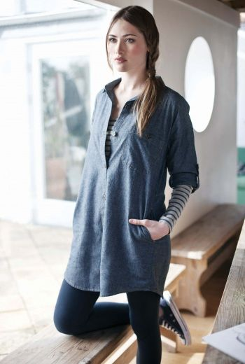 Totnes Shirt Dress | Women's shirts in organic cotton and lightweight linen - Seasalt