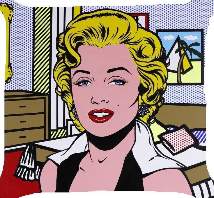 25 b sta pop art marilyn id erna p pinterest art pop roy lichtenstein och skissblock f r konst. Black Bedroom Furniture Sets. Home Design Ideas