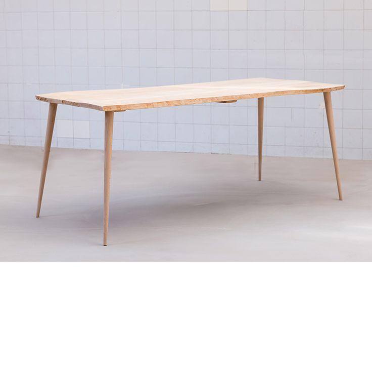 Exceptional Table Haute Bois Ikea #7: Pied-de-table-haute Design-style Nordique