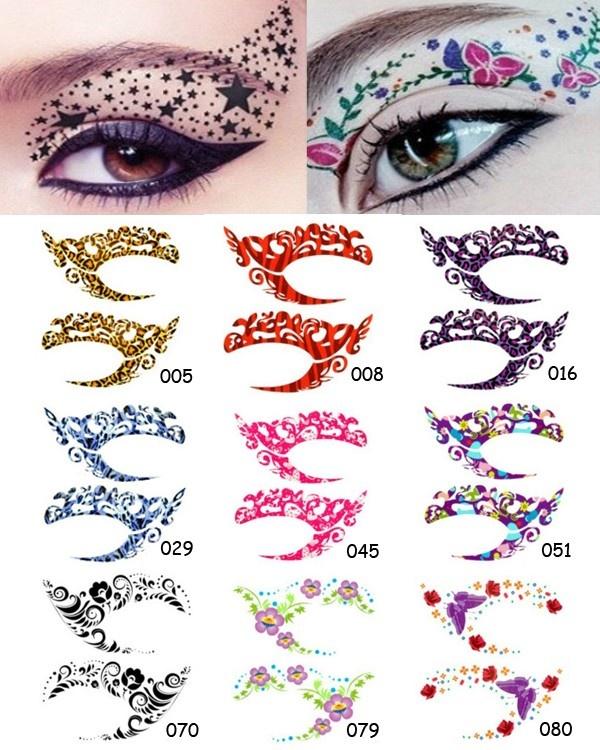 Multiple Styles Temporary Eyes Stickers Tattoos Transferable Eyeshadow Eye Rock $1