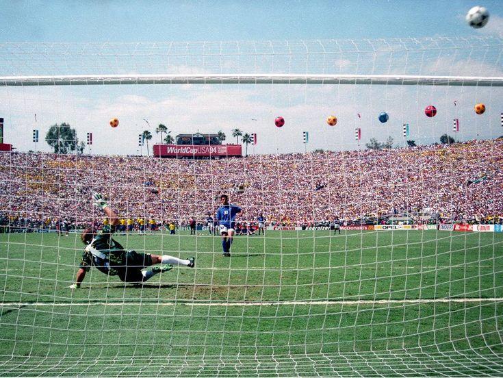 O penálti falhado por Baggio, perante o Brasil na final do Mundial de 1994.
