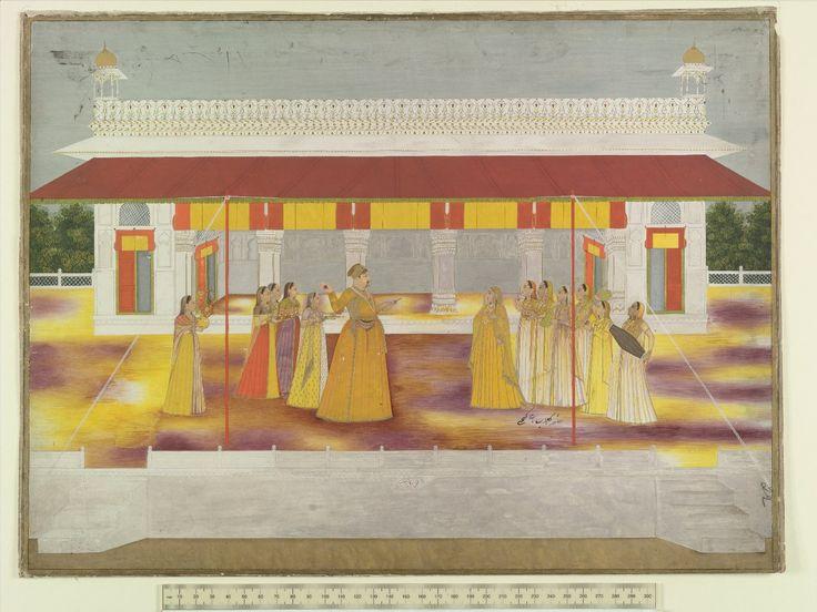 Muhammad Shah plays Holi with his ladies