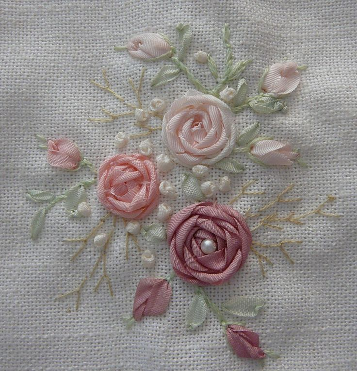 Silk Ribbon Embroidery: Stitches - French Knot