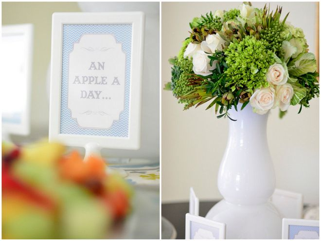 More inspiration from the Chic + Elegant Blue and Green Baby Shower