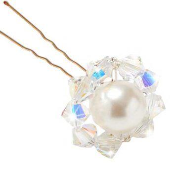 Lili Pearl Swarovski Crystal Hairpins