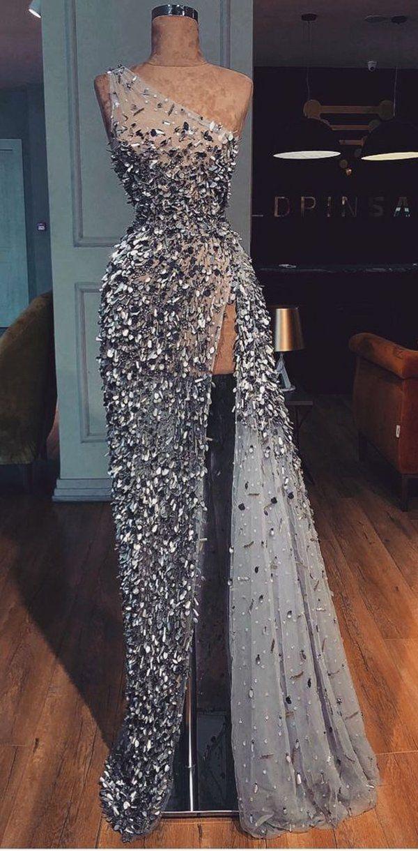 Sparkly Gorgeous Shinning Langes Abendkleid, Einzigartiges Design Hübsche Mode Ballkleider, PD1002 # promdresses #longpromdresses #longpromdress #promdress #eveningdress #partydress #fashiondress # 2019promdresses