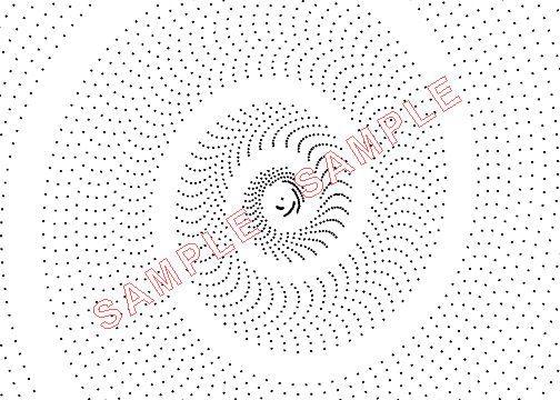 Plotadots - set of five - Logarithmic Spirals by Lacebobbins on Etsy
