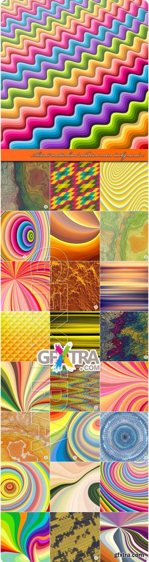 Abstract multicolored collection vector backgrounds 5